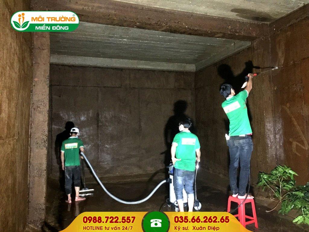 Chi phí dịch vụ vệ sinh bể PCCC