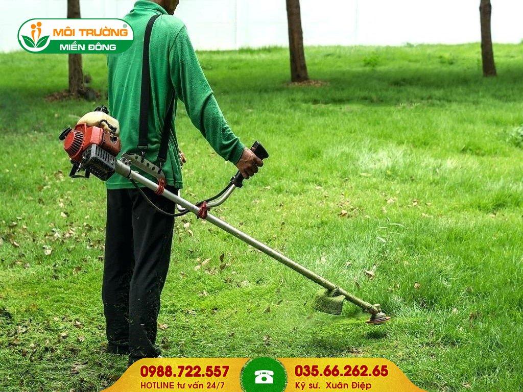 Báo giá dịch vụ cắt cỏ công trình