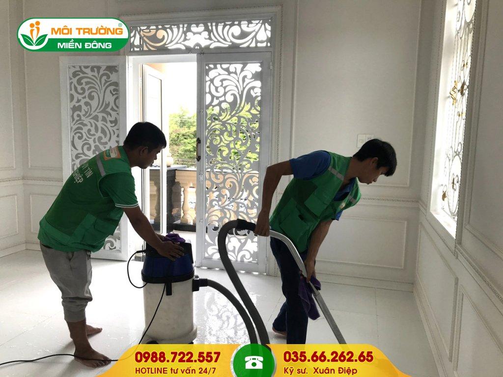 Báo giá dịch vụ vệ sinh công trình sau xây dựng