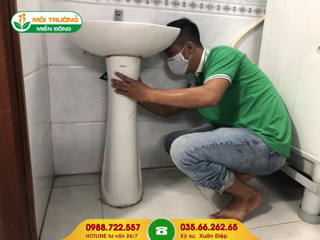 Dịch vụ thông tắc lavabo công ty
