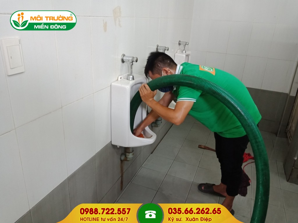Bảng báo giá thông tắc bồn tiểu tại Đồng Nai