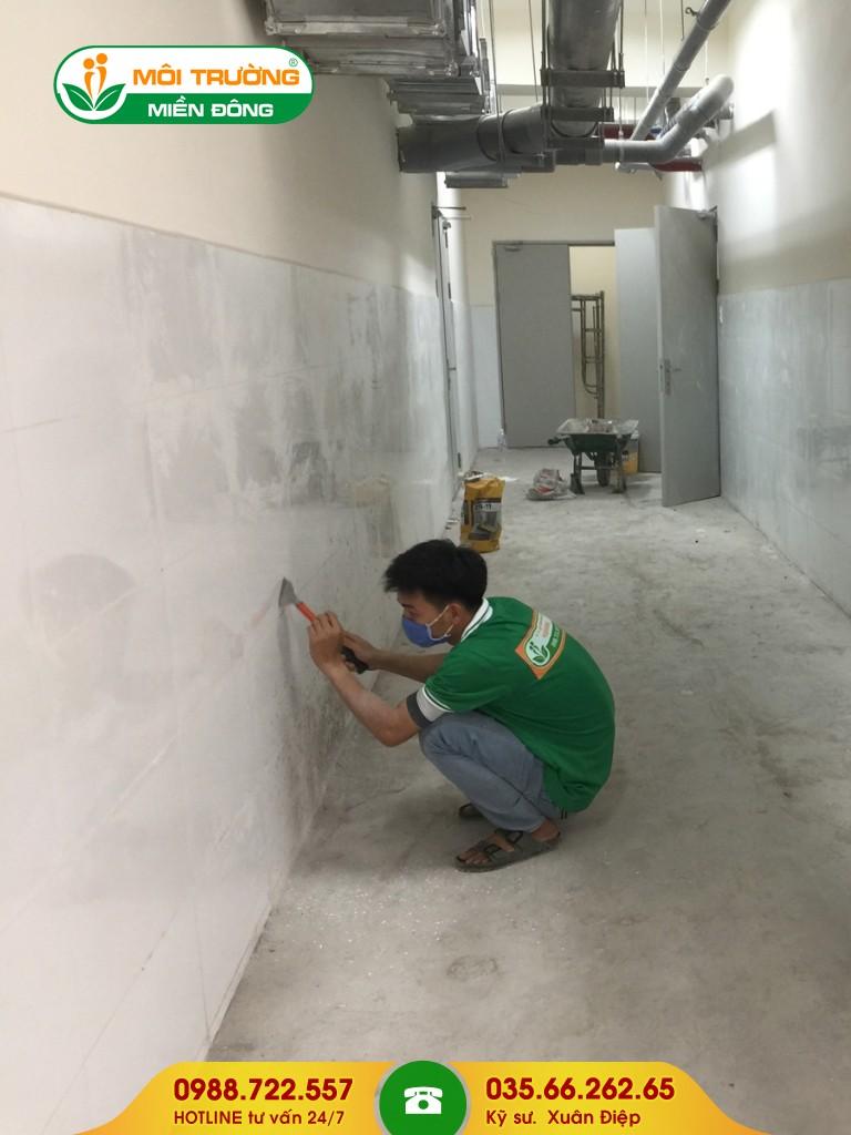 Dịch vụ tẩy rửa vết bám trên tường